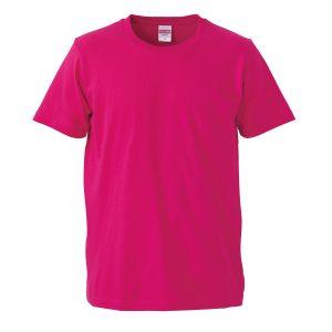 5.0オンスレギュラーフィットTシャツ (トロピカルピンク)