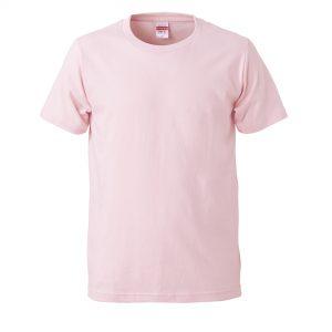 5.0オンスレギュラーフィットTシャツ (ライトピンク)