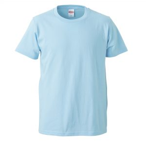 5.0オンスレギュラーフィットTシャツ (ライトブルー)