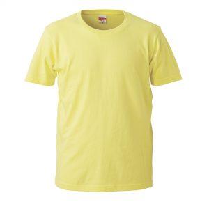 5.0オンスレギュラーフィットTシャツ (ライトイエロー)
