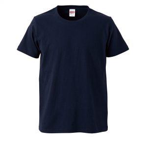 5.0オンスレギュラーフィットTシャツ (ネイビー)