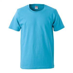 5.0オンスレギュラーフィットTシャツ (アクアブルー)