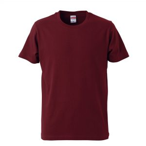 5.0オンスレギュラーフィットTシャツ (バーガンディ)