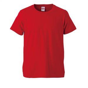 5.0オンスレギュラーフィットTシャツ (レッド)