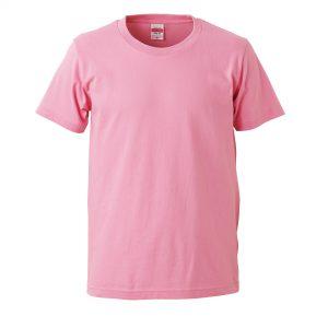 5.0オンスレギュラーフィットTシャツ (ピンク)