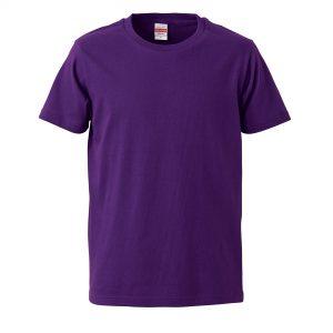 5.0オンスレギュラーフィットTシャツ (パープル)