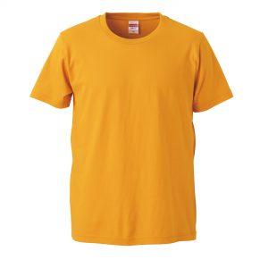 5.0オンスレギュラーフィットTシャツ (ゴールド)