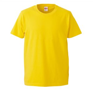 5.0オンスレギュラーフィットTシャツ (イエロー)