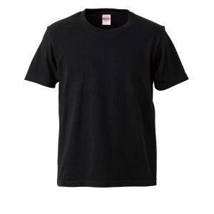 5.0オンスレギュラーフィットTシャツ (ブラック)