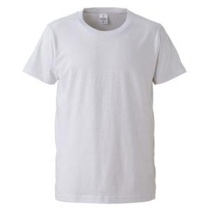 4.7オンスファインジャージーTシャツ(ホワイト)