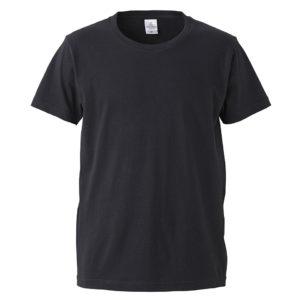 4.7オンスファインジャージーTシャツ(ブラック)