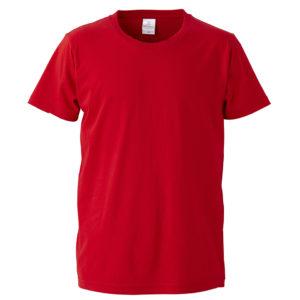 4.7オンスファインジャージーTシャツ(レッド)