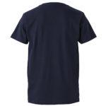 4.7オンスファインジャージーTシャツ(ネイビー)の背面