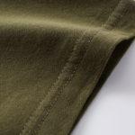 4.7オンスファインジャージーTシャツ(OD)の袖の写真