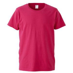 4.7オンスファインジャージーTシャツ(トロピカルピンク)