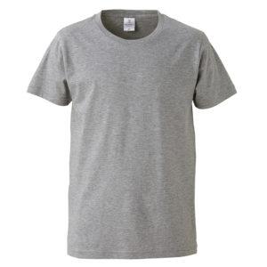 4.7オンスファインジャージーTシャツ(ヘザーグレー)