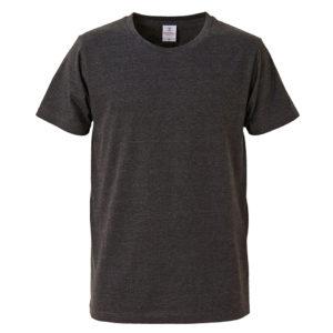 4.7オンスファインジャージーTシャツ(ダークヘザーブラック)
