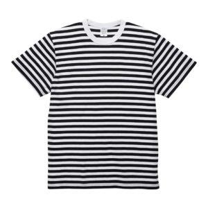 5.6オンスボーダーTシャツ(ブラック/ホワイト 1.2cmピッチ)