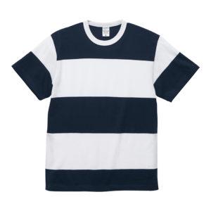 5.6オンスボーダーTシャツ(ネイビー/ホワイト 15.0cmピッチ)