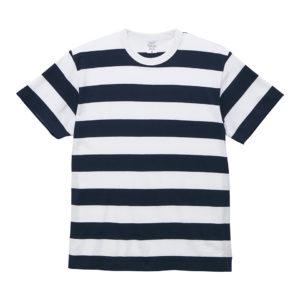 5.6オンスボーダーTシャツ(ネイビー/ホワイト 5.0cmピッチ)