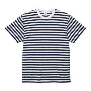 5.6オンスボーダーTシャツ(ネイビー/ホワイト 1.2cmピッチ)