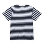 5.6オンスボーダーTシャツ(ネイビー/ホワイト 1.2cmピッチ)の背面