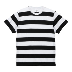 5.6オンスボーダーTシャツ(ブラック/ホワイト 5.0cmピッチ)