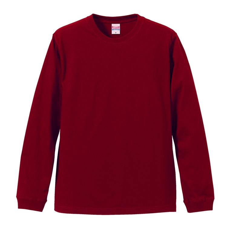 5.6オンスロングスリーブTシャツ(バーガンディ)