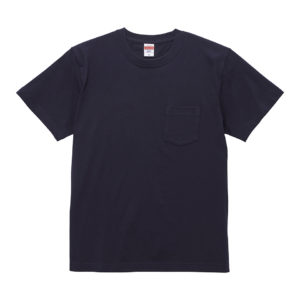 5.6オンスハイクオリティーTシャツ(ポケット付/ネイビー)