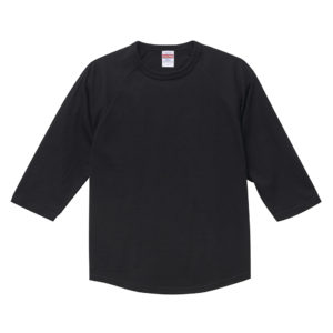 5.6オンスラグランTシャツ(ブラック)