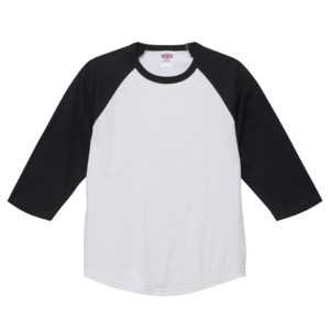 5.6オンスラグランTシャツ( ホワイト/ブラック)