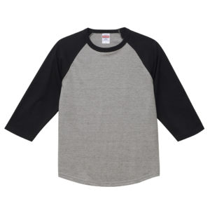 5.6オンスラグランTシャツ(ミックスグレー/ブラック)