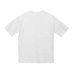 5.6オンスビックシルエットTシャツ(ホワイト)の背面