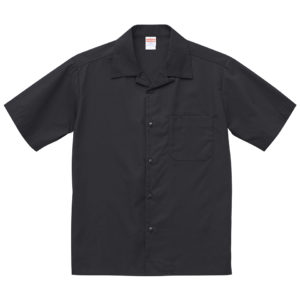 T/C オープンカラーシャツ(ブラック)