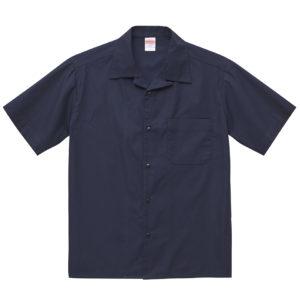 T/C オープンカラーシャツ(ネイビー)