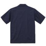T/C オープンカラーシャツ(ネイビー)の背面