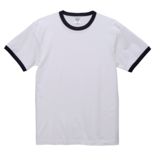 5.6オンスリンガーTシャツ(ホワイト/ネイビー)