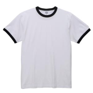 5.6オンスリンガーTシャツ(ホワイト/ブラック)