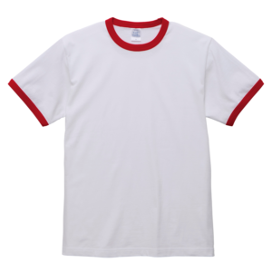 5.6オンスリンガーTシャツ(ホワイト/レッド)