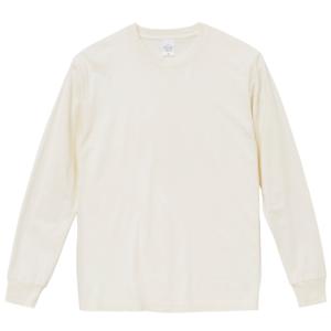 5.6オンスピグメントダイ染め加工のロングスリーブTシャツ(ヴィンテージホワイト)