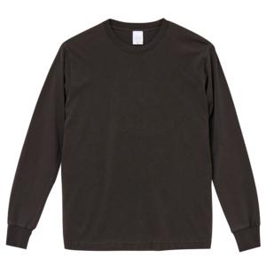 5.6オンスピグメントダイ染め加工のロングスリーブTシャツ(ヴィンテージブラック)