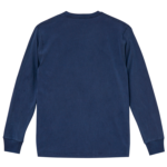 5.6オンスピグメントダイ染め加工のロングスリーブTシャツ(ヴィンテージネイビー)の背面