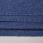 5.6オンスピグメントダイ染め加工のロングスリーブTシャツの裾拡大画像
