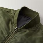 タイプMA-1の中綿入ジャケット(OD)の襟元の画像