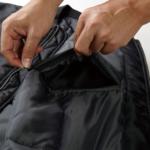 タイプMA-1の中綿入ジャケットのファスナ画像ー