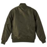 タイプMA-1の中綿入ジャケット(OD)の背面