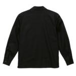 T/C生地のオープンカラーロングスリーブシャツ(ブラック)の背面