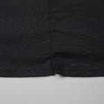 T/C生地のオープンカラーロングスリーブシャツ(ブラック)の側面の裾画像