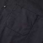 T/C生地のオープンカラーロングスリーブシャツ(ブラック)の胸ポケット画像