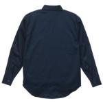 T/C生地のワークロングスリーブシャツ(ダークネイビー)の背面画像